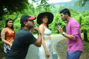 Mannara Chopra, Kajal Agarwal, Bellamkonda Sreenivas @ Sita Movie Working Stills