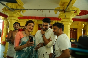 Kajal Agarwal, Bellamkonda Sai Sreenivas, Teja @ Sita Movie Working Stills