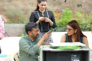Teja, Kajal @ Sita Movie Working Stills