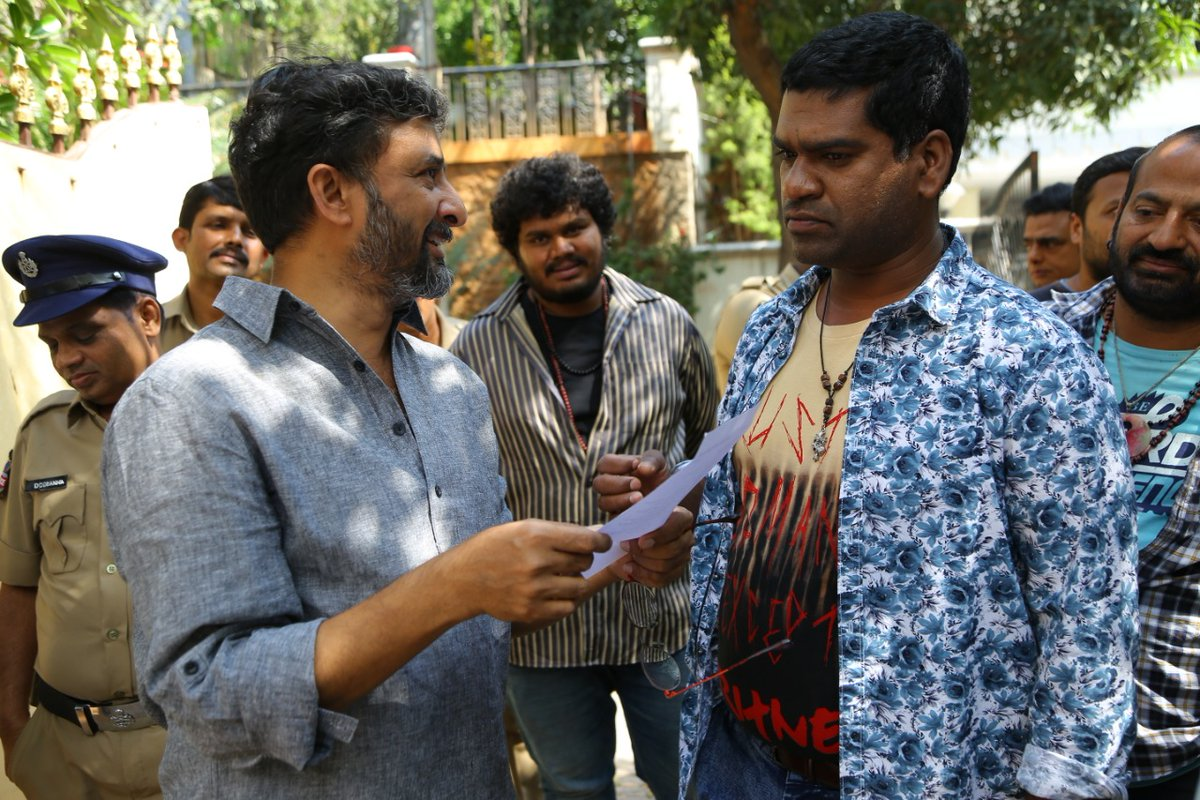 Director Teja @ Sita Movie Working Stills