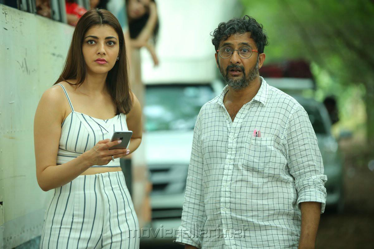 Kajal Agarwal, Teja @ Sita Movie Working Stills