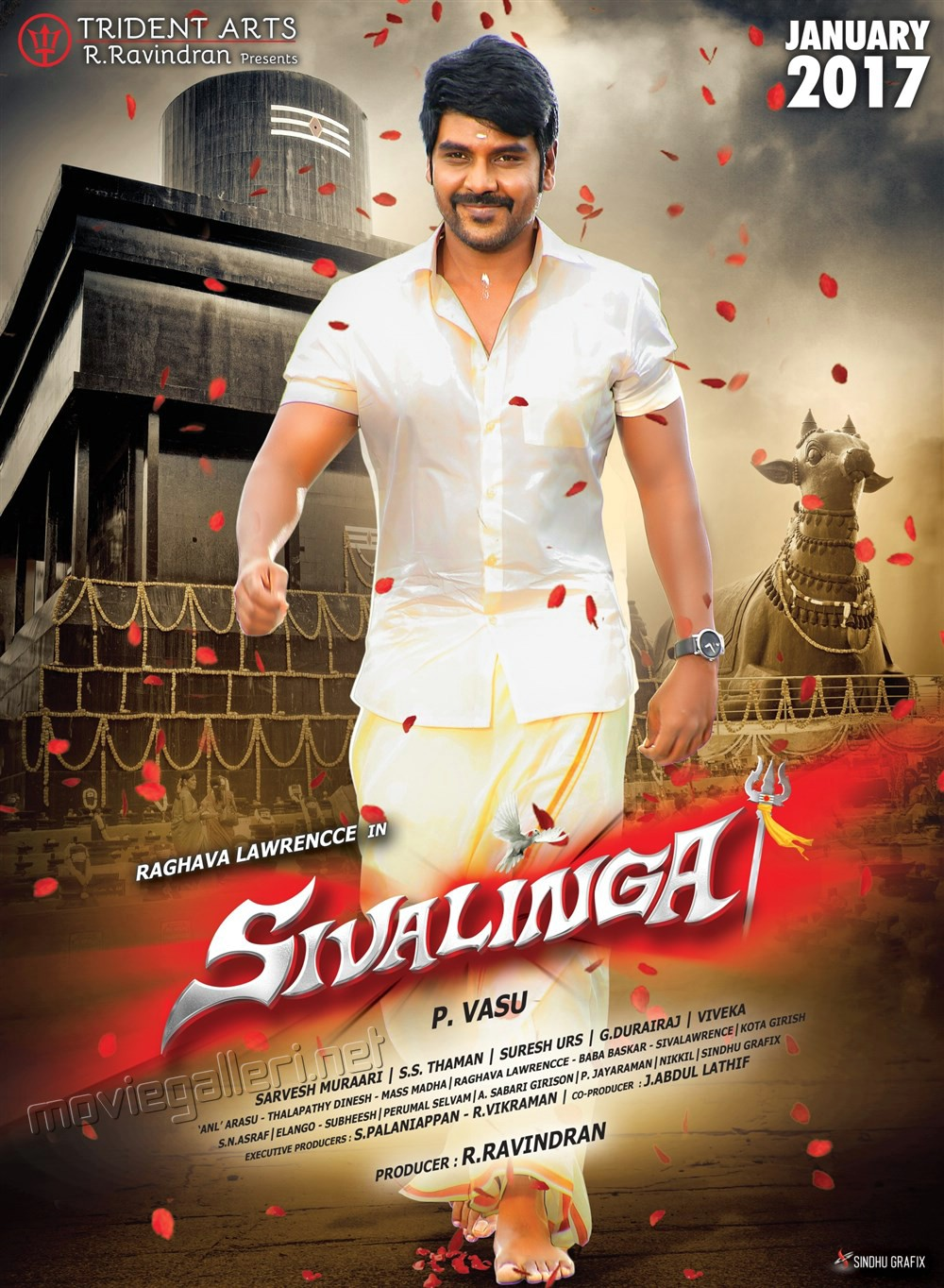 raghava_lawrence_sivalinga_movie_release_january_2017_posters_279a187 For the first time in Kollywood history, Two movies of same hero releases on the same day.