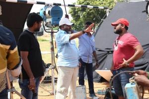 Director P Vasu, Cinematographer Sarvesh Murari @ Sivalinga Movie Working Stills