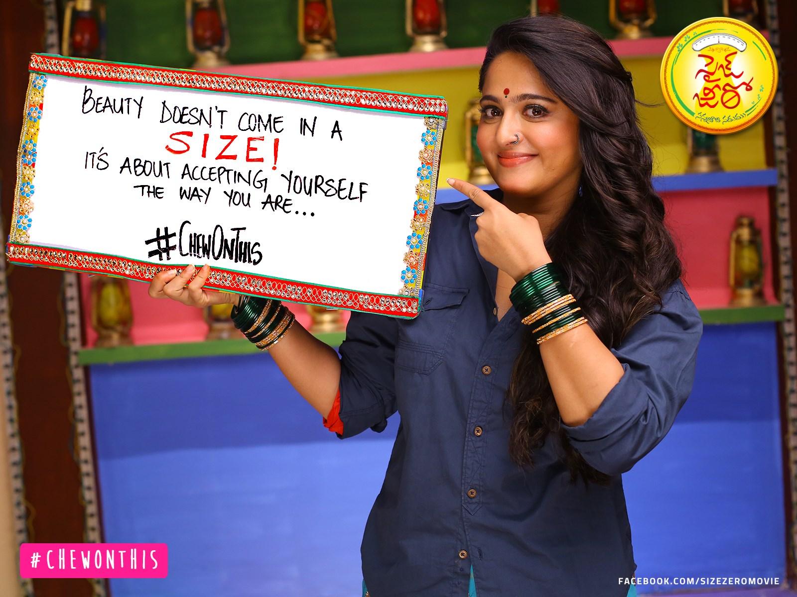 Actress Anushka Shetty in Size Zero Movie Placards Campaign Photos