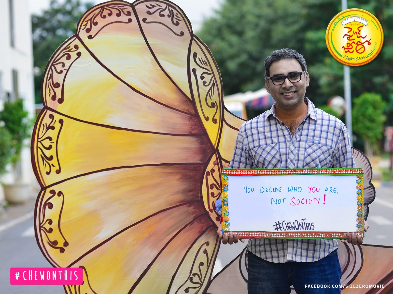 Director Prakash Kovelamudi in Size Zero Movie Placards Campaign Photos