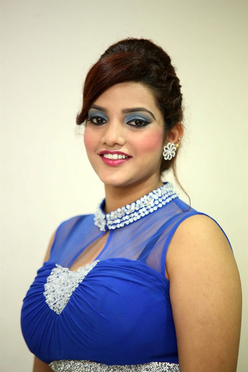 Actress SK Attiya Hot Photos in Blue Dress