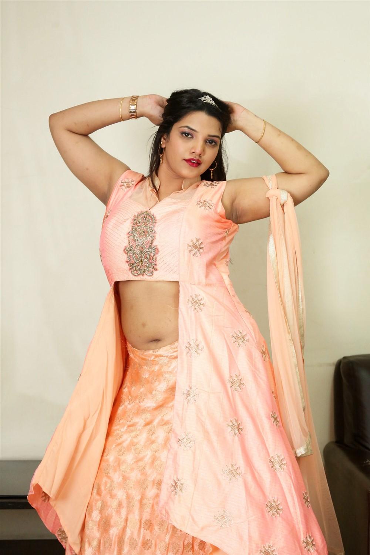 Actress SK Attiya Stills at Danger Love Story Movie Press Meet