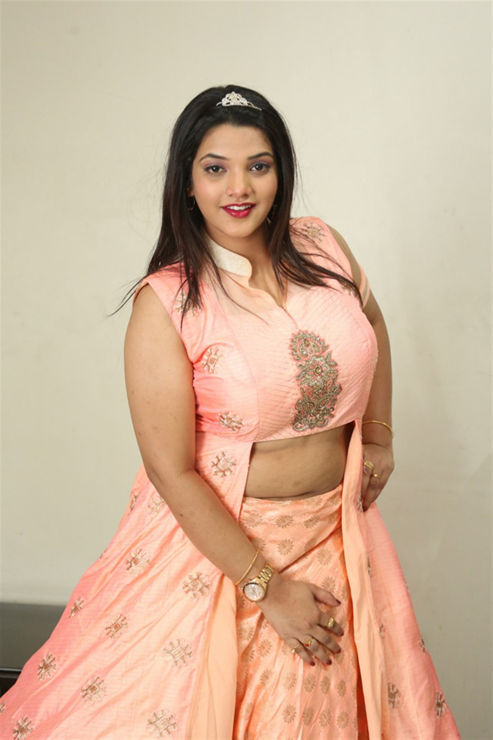 Actress SK Attiya Stills at Danger Love Story Movie Press Meet