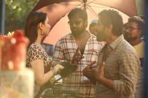 Tamanna, Vijay Chandar, Vikram @ Sketch Movie Working Stills