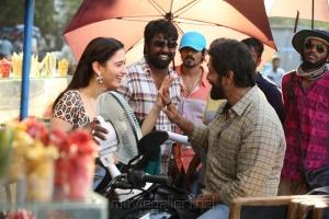 Tamanna, Vijay Chander, Vikram @ Sketch Movie Working Stills
