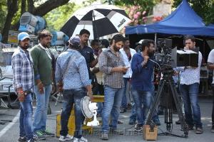 Vikram, Sukumar @ Sketch Movie Working Stills