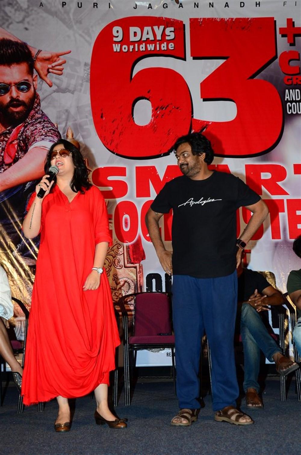 Charmi, Puri Jagannadh @ iSmart Shankar Success Meet Stills