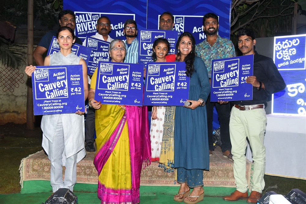 Smita Rally for Rivers Song Launch Stills