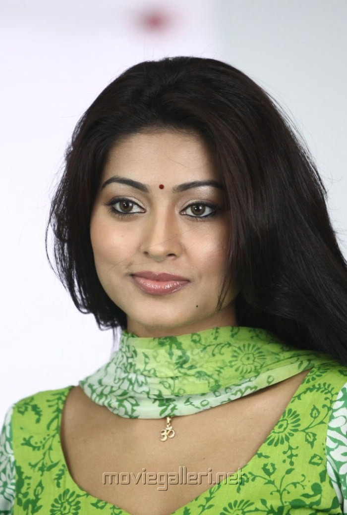 Cute Sneha in Green Churidar Stills