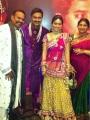 Venkat Prabhu with wife at Actress Sneha Nalangu Function
