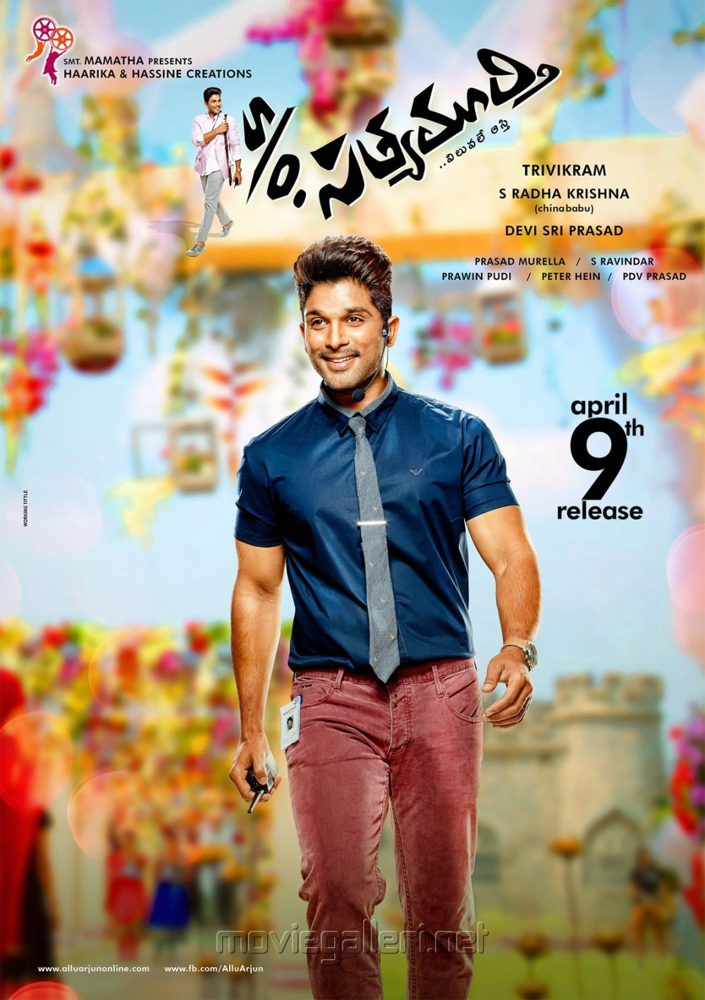 ... Actor Allu Arjun in S/O Sathyamurthy Movie Posters | New Movie Posters
