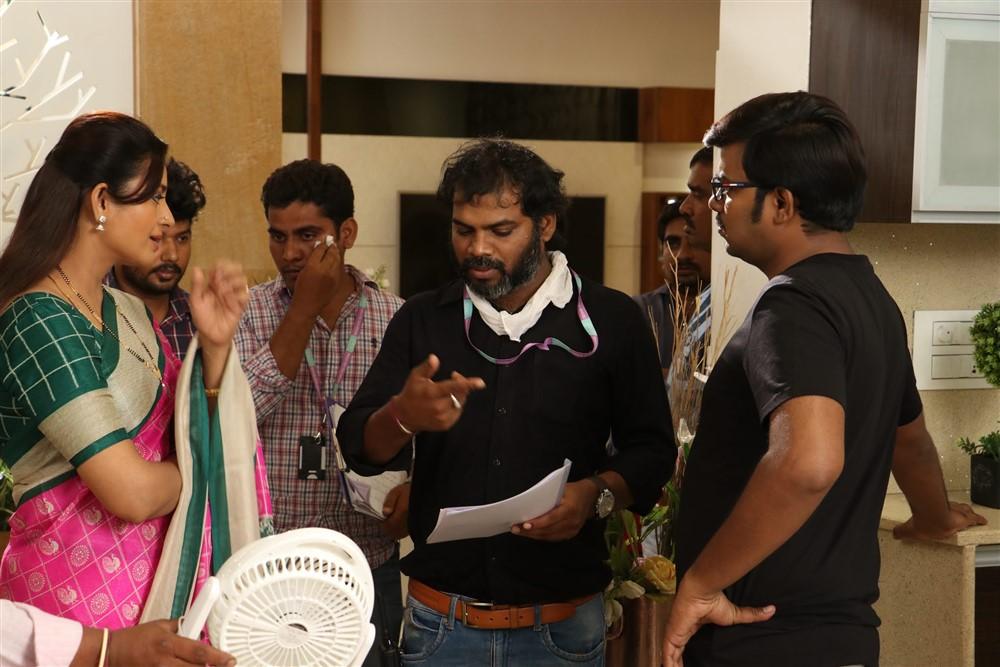 Indraja, Rajasekhar Reddy Pulicharla @ Software Sudheer Movie Working Stills