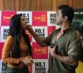 Aishwarya Arjun, Arjun Sarja @ Sollividava Audio Launch at Suryan FM Photos