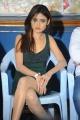 Telugu Actress Soni Charista in Dark Green Dress Hot Pics