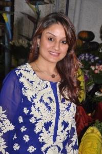 Sonia Agarwal Cute Photos in Navy Blue Salwar Kameez