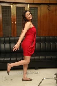 Sonia Agarwal Hot in Mini Red Dress Photoshoot Stills