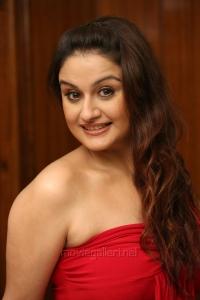 Sonia Agarwal in Red Mini Dress Hot Photo Shoot Stills