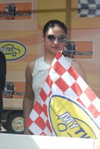 Sonia Agarwal flagged off My TVS Heritage Car Rally Stills