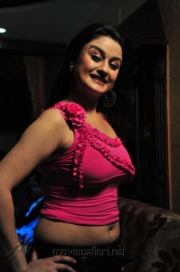Actress Sonia Agarwal in Pink Dress Hot Spicy Pics