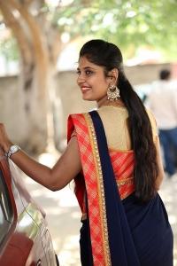 Telugu TV Anchor Sonia Chowdary Saree Photos