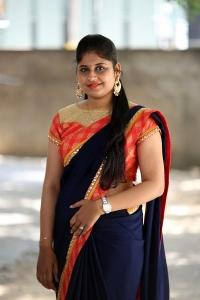 Anchor Sonia Chowdary in Saree Photos