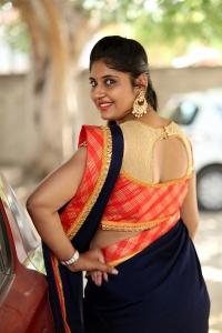 Anchor Sonia Chowdary Saree Photos
