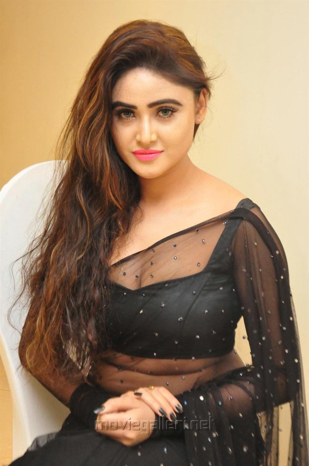 Actress Sony Charishta Hot Photos in Black Saree