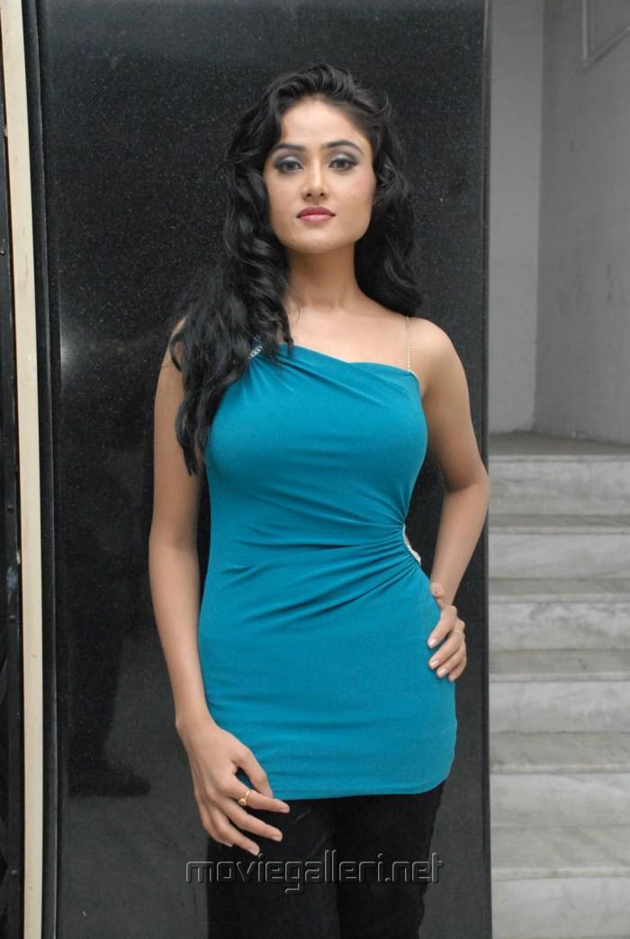 Actress Sony Charista Hot Photoshoot Pics in Blue Dress