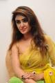 Actress Sony Charista Hot Pics in Green Yellow Saree
