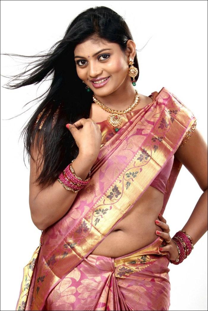 Picture 509488 Telugu Actress Soumya Hot Silk Saree