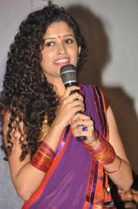 Telugu Actress Soumya Sukumar Stills @ Pora Pove Logo Launch