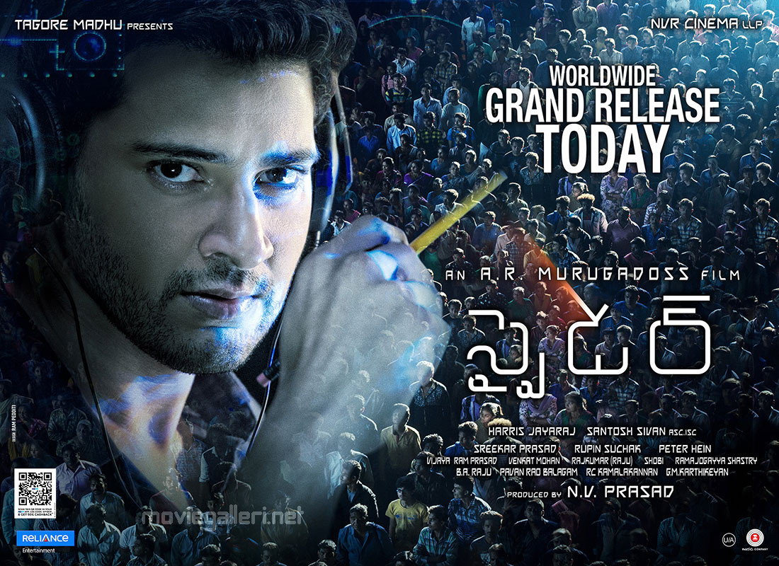 Mahesh Babu Spyder Movie Worldwide Grand Release Today Posters