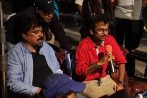 Santosh Sivan, AR Murugadoss @ Spyder Movie Working Stills