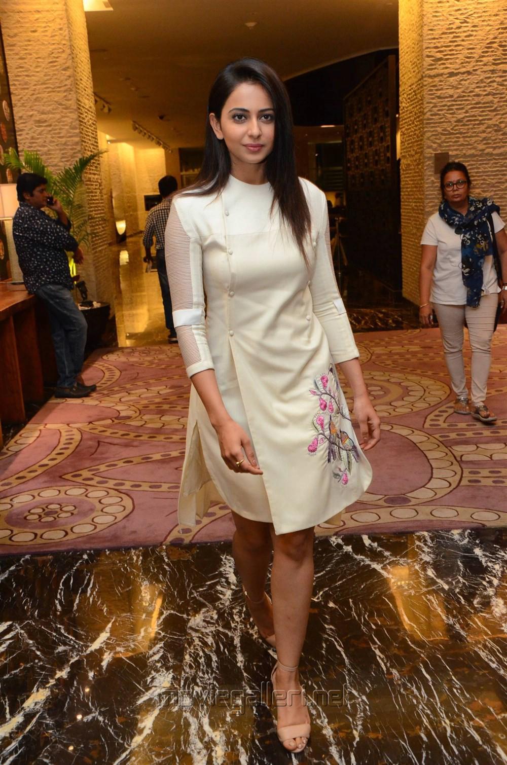 Actress Rakul Preet Singh @ Spyder Press Meet Hyderabad Photos