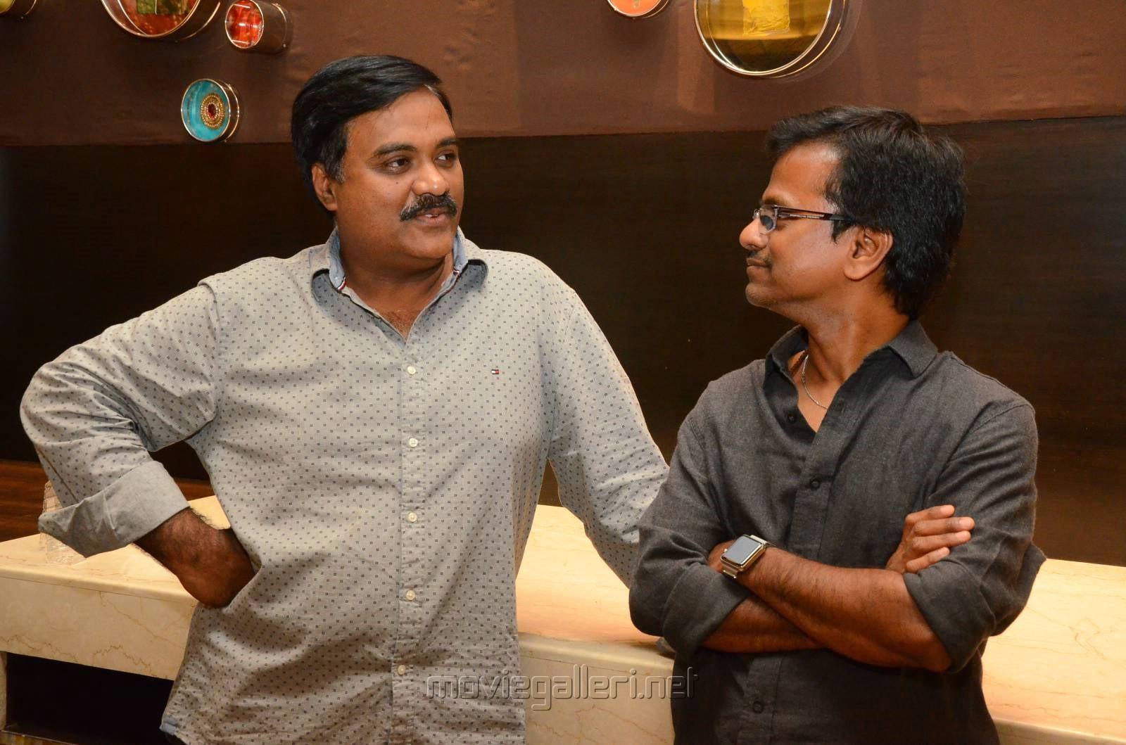 Tagore Madhu, AR Murugadoss @ Spyder Press Meet Hyderabad Photos