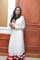 Actress Sravani Cute Stills in White Full Sleeve Churidar Dress