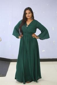 Batch Actress Sree Madhuri in Green Dress Photos