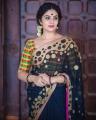 Actress Sreemukhi Cute Saree Photoshoot Stills