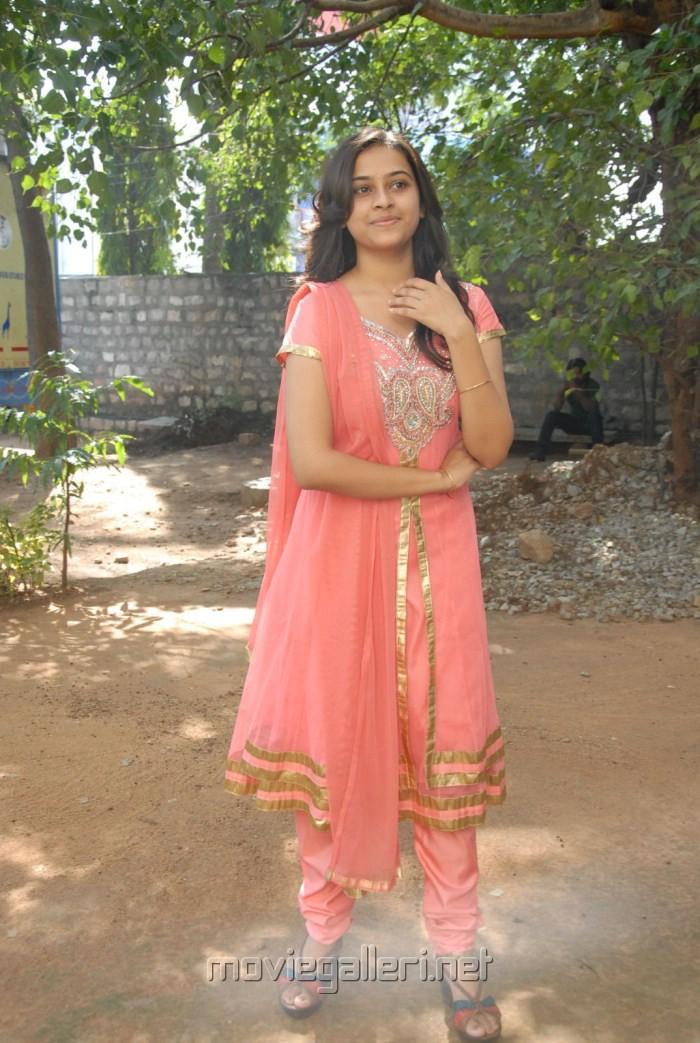 Actress Sree Divya Cute Stills at Bus Stop Press Meet