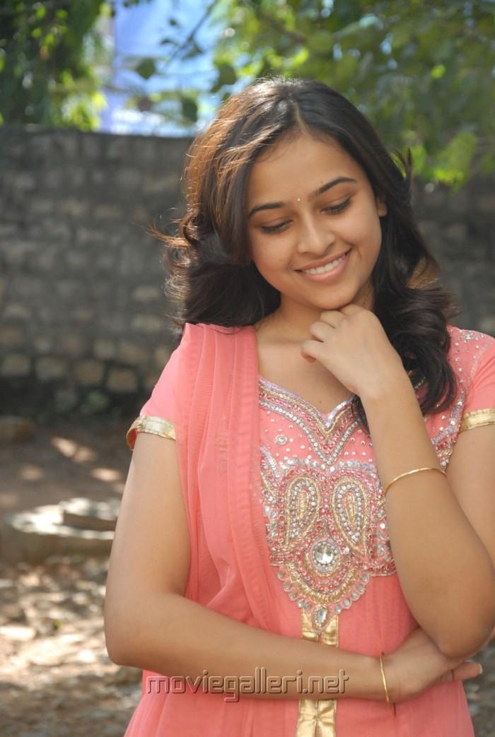 Telugu Actress Sree Divya Cute Stills at Bus Stop Press Meet [ Gallery