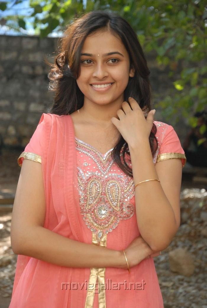 Telugu Actress Sri Divya Cute Stills at Bus Stop Trailer Launch