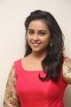 Actress Sree Divya in Red Long Dress Photos