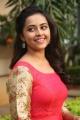 Actress Sri Divya Hot Red Dress Photos