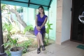 Agadam Movie Actress Sri Priyanka Hot Stills in Blue Dress