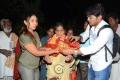 Sri Reddy (Aaptha Trust Director) distributes Blankets for orphans at Sai Baba Temple, Punjagutta, Hyderabad